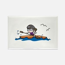 Kayak Girl Magnets