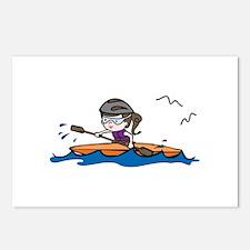 Kayak Girl Postcards (Package of 8)