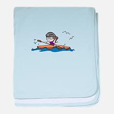 Kayak Girl baby blanket