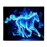 Blue flame Fleece Blankets