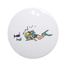 Driver Fishes Ornament (Round)