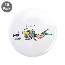"""Driver Fishes 3.5"""" Button (10 pack)"""