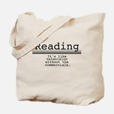 Without Commercials Tote Bag