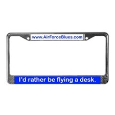 Fly a desk License Plate Frame