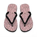 Art Deco Damask pink Flip Flops