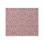 Art Deco Damask pink Throw Blanket