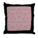 Art Deco Damask pink Throw Pillow