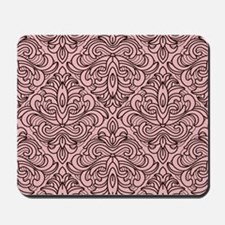 Art Deco Damask pink Mousepad
