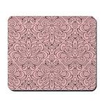 Art Deco Damask pink Mousepad