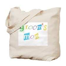 Groom's Mom Cool Text Tote Bag