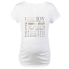 modern vintage christmas words Shirt
