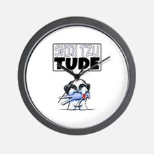 Shih Tzu Tude Wall Clock