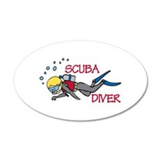 Scuba Swim Wall Decal