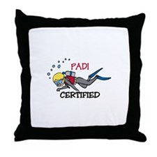 Padi Certified Throw Pillow