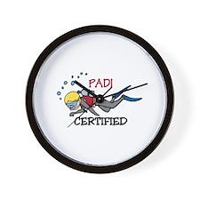 Padi Certified Wall Clock