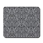 Art Deco Damask gray Mousepad