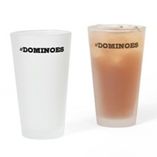Dominoes Hashtag Drinking Glass