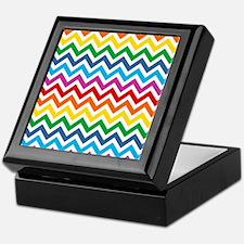 Rainbow Chevron Pattern Keepsake Box