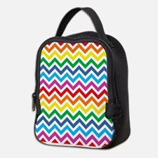 Rainbow Chevron Pattern Neoprene Lunch Bag