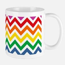 Rainbow Chevron Pattern Mug