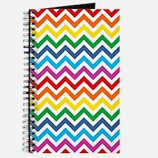 Rainbow Chevron Pattern Journal