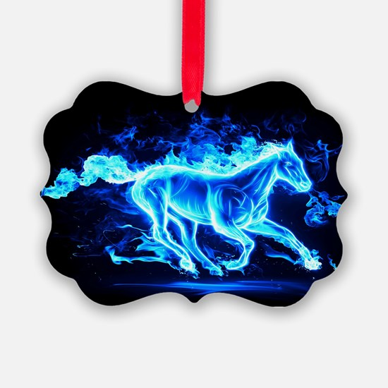 Flamed Horse Ornament