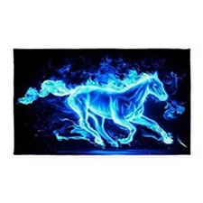 Flamed Horse 3'x5' Area Rug
