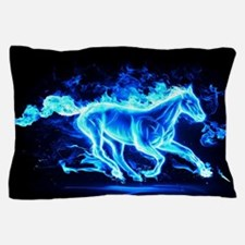 Flamed Horse Pillow Case