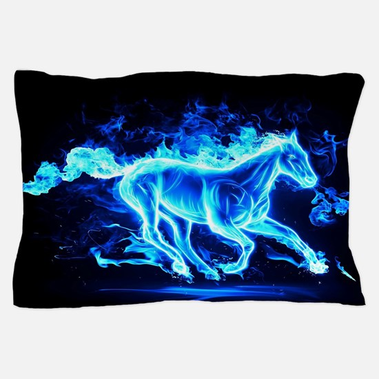 Flamed Horse Pillow Case