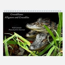 Alligators And Crocodiles Wall Calendar
