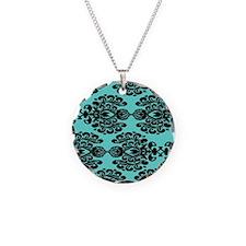 Cute Black damask Necklace