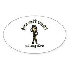Light Army Veteran Oval Decal