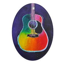 Cute Acoustic guitar Oval Ornament