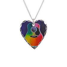 Unique Acoustic guitar Necklace Heart Charm