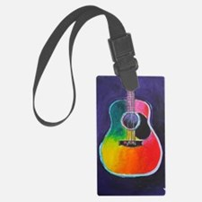 Cute Acoustic guitar Luggage Tag