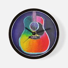 Cute Acoustic guitar Wall Clock
