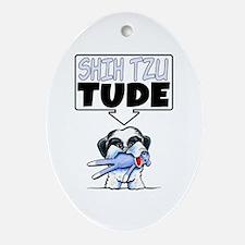 Shih Tzu Tude Ornament (Oval)