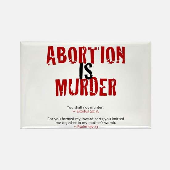 Abortion IS Murder - Rectangle Magnet (10 pack)