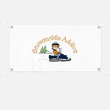 Snowmobile Addict Banner