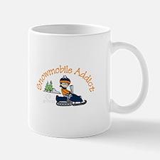 Snowmobile Addict Mugs