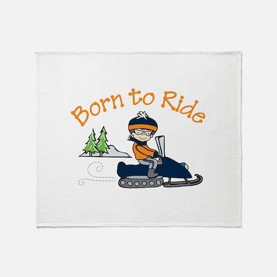 Born to Ride Throw Blanket