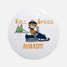 Full Speed Ahead Ornament (Round)
