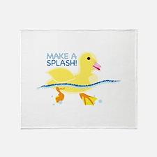 Make A Splash Throw Blanket