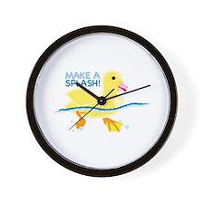 Make A Splash Wall Clock