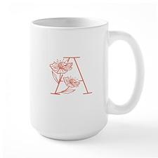 Botanical A Monogram Mugs