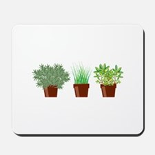 Potted Herbs Mousepad