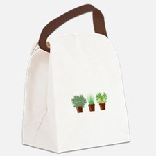 Potted Herbs Canvas Lunch Bag