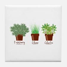 Rosemary Chives Tile Coaster