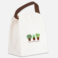 Homegrown Herbs Canvas Lunch Bag