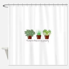 Homegrown Herbs Shower Curtain